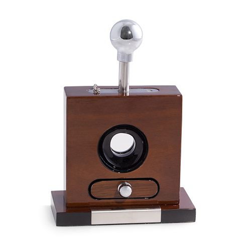 Bey-Berk  Lacquered Wood Table Top Guillotine Cigar Cutter