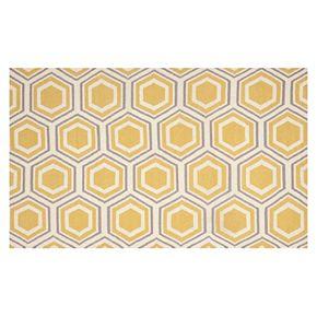 Safavieh Dhurries Honeycomb Handwoven Flatweave Wool Rug - 4' x 6'