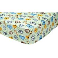Waverly Baby by Trend Lab Chibi Zoo Animals Crib Sheet