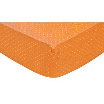 Waverly Baby by Trend Lab Orange Dot Crib Sheet