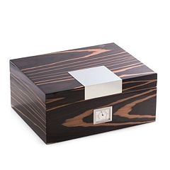 Bey-Berk Ebony Wood 60-Cigar Humidor