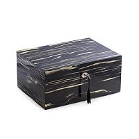 Bey-Berk Ebony Wood 100-Cigar Humidor