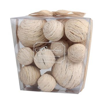 Stonebriar Collection Straw Ball Vase Fillers