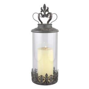 Stonebriar Collection Vintage Crown Candle Holder