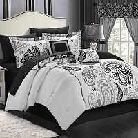 Chic Home Olivia 20 pc Paisley Print Reversible Bed Set