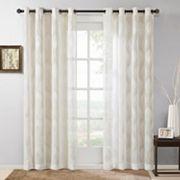 Madison Park Elin Sheer Ogee Jacquard Window Curtain