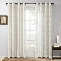 Madison Park Elin Sheer Ogee Jacquard Window Curtain