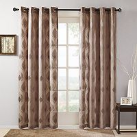 Madison Park Elin Sheer Ogee Jacquard Curtain