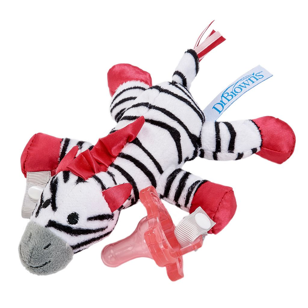 Dr. Brown's Plush Zoo Animal Silicone Pacifier