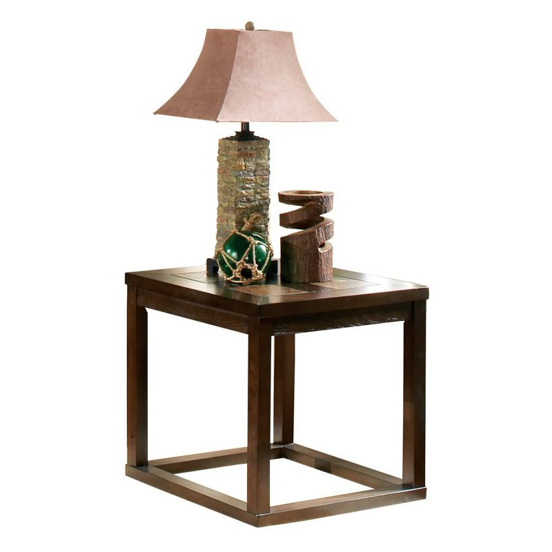 Alberto End Table, Brown