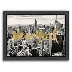Americanflat 'New York Skyline' Framed Wall Art