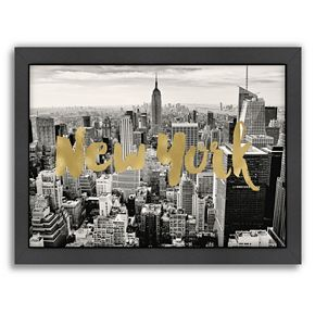 "Americanflat ""New York Skyline"" Framed Wall Art"