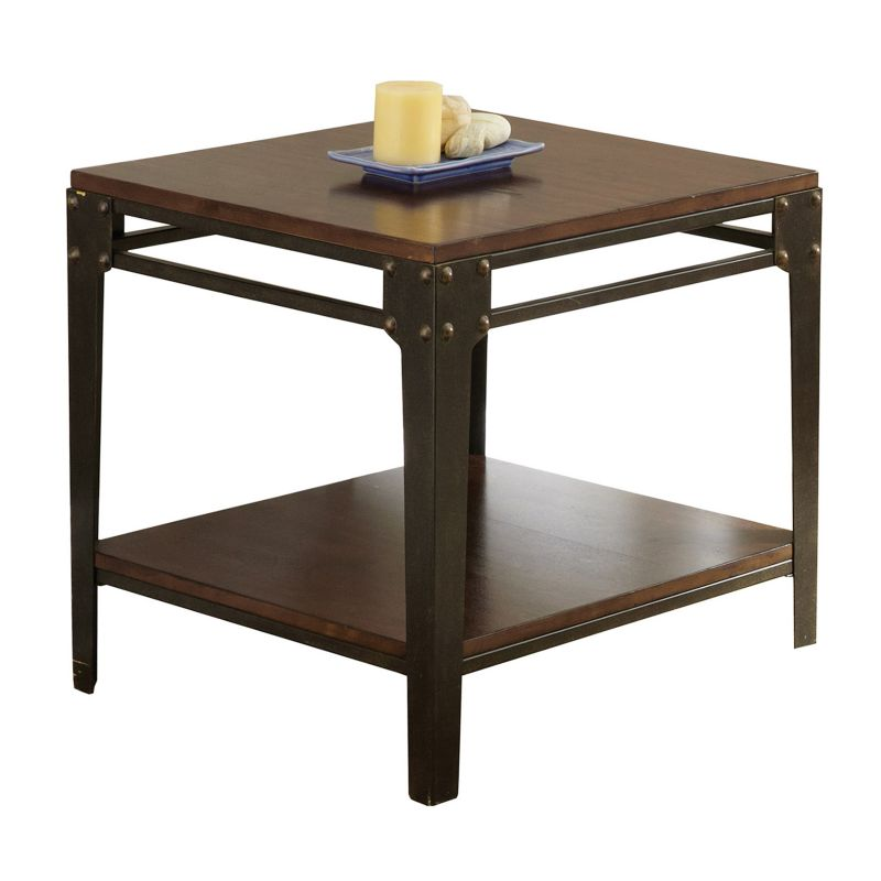 Barrett Industrial End Table, Red
