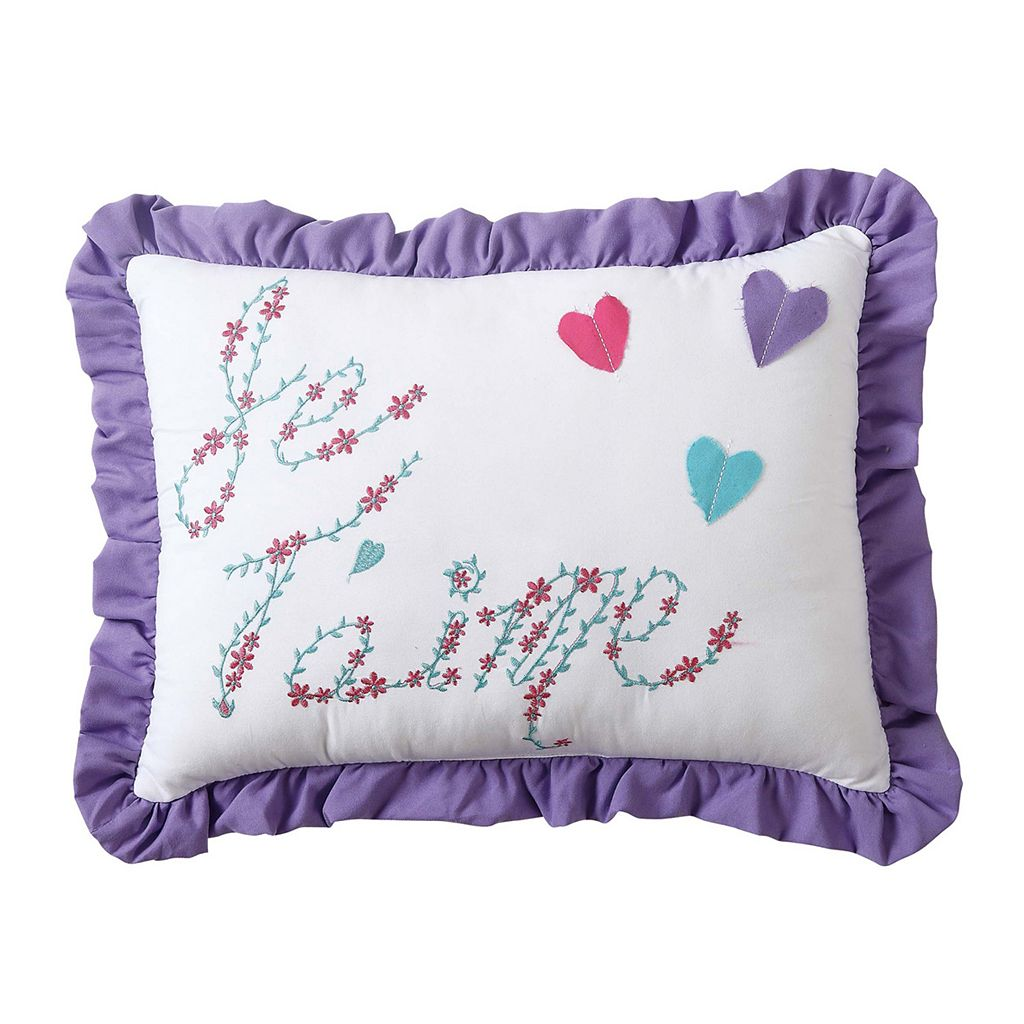 Amanda Embroidered Throw Pillow