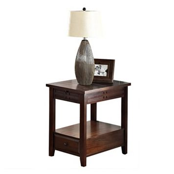 Crestline Drawer End Table
