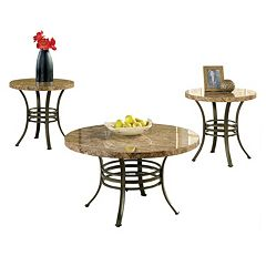 Collison Coffee & End Table 3 pc Set