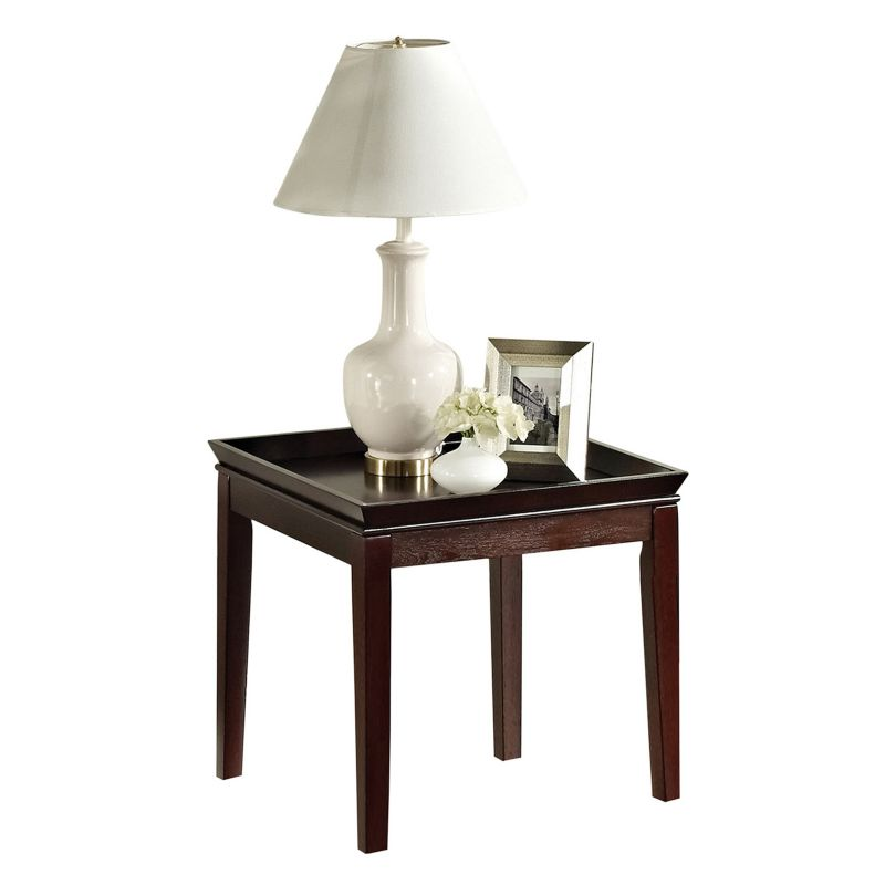 Clemson End Table, Med Red