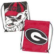 Logo Brand Georgia Bulldogs Double Header Reversible Backsack