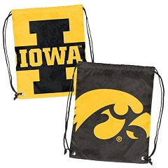Logo Brand Iowa Hawkeyes Double Header Reversible Backsack