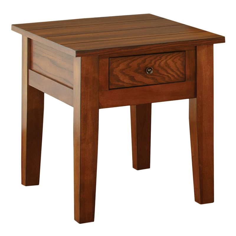 Desoto End Table, Red