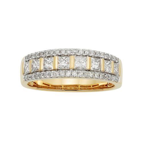 14k Gold 1 Carat T.W. IGL Certified Diamond Wedding Ring