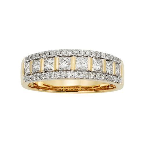 14k Gold 1 Carat T.W. IGL Certified Diamond Wedding Ring