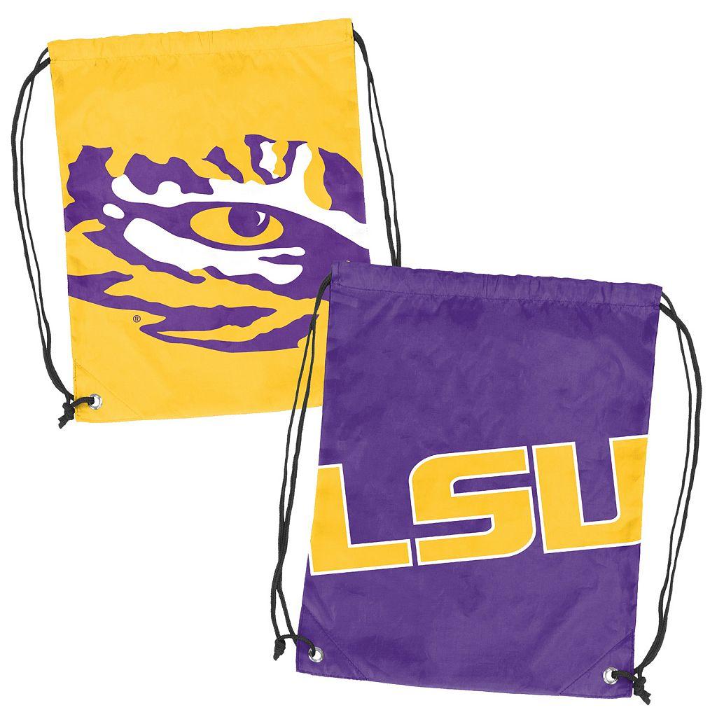 Logo Brand LSU Tigers Double Header Reversible Backsack