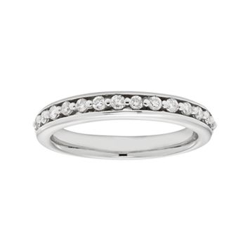 14k White Gold 1/4 Carat T.W. IGL Certified Diamond Wedding Ring