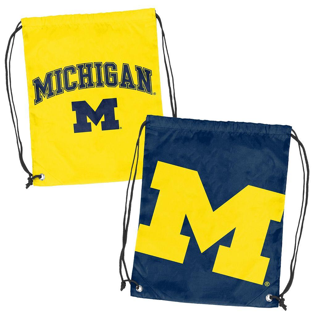 Logo Brand Michigan Wolverines Double Header Reversible Backsack