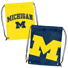 Logo Brand Michigan Wolverines Double Header Reversible Backsack