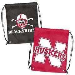 Logo Brand Nebraska Cornhuskers Double Header Reversible Backsack