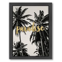 Americanflat 'Paradise Palm Trees' Framed Wall Art