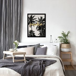 """Americanflat """"Paradise Palm Trees"""" Framed Wall Art"""