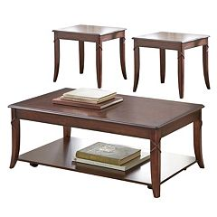 Draco Coffee & End Table 3 pc Set