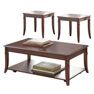 Draco Coffee & End Table 3-piece Set