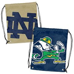 Logo Brand Notre Dame Fighting Irish Double Header Reversible Backsack