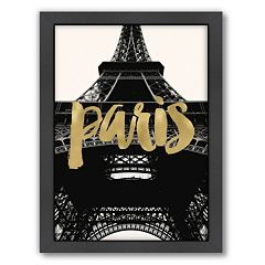 Americanflat 'Paris Eiffel Tower' Framed Wall Art