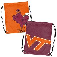 Logo Brand Virginia Tech Hokies Double Header Reversible Backsack