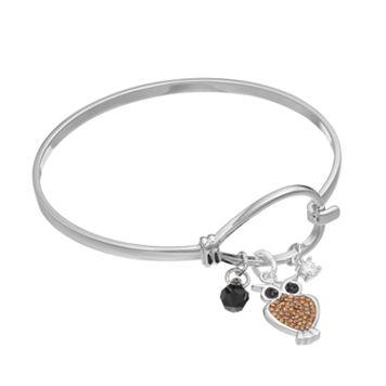 Cubic Zirconia Owl Charm Bracelet