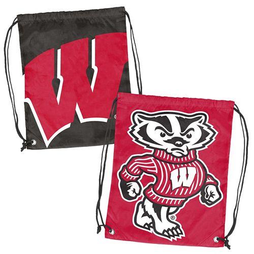 Logo Brand Wisconsin Badgers Double Header Reversible Backsack