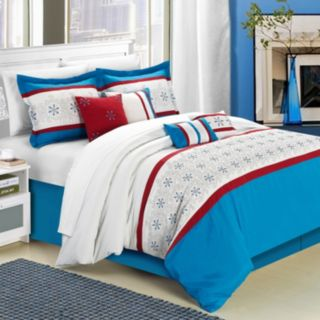 Chic Home Bella Rose 8-piece Embroidered Bed Set