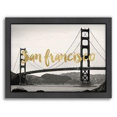 Americanflat 'San Francisco Golden Gate' Framed Wall Art