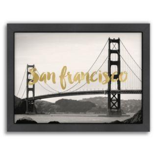 "Americanflat ""San Francisco Golden Gate"" Framed Wall Art"