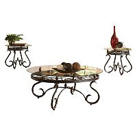 Lola Coffee & End Table 3 pc Set