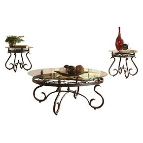 Lola Coffee & End Table 3-piece Set