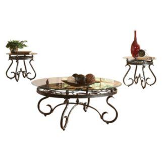 Lola Coffee & End Table 3-piece Set
