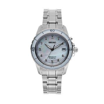 Seiko Women's Sportura Diamond Stainless Steel Kinetic Watch - SKA881
