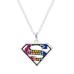 DC Comics Crystal Superman Pendant Necklace