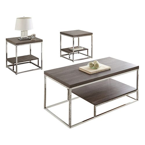 Lucia Coffee & End Table 3-piece Set