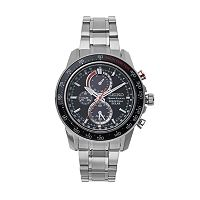 Seiko Men's Sportura Stainless Steel Solar Chronograph Watch - SSC357